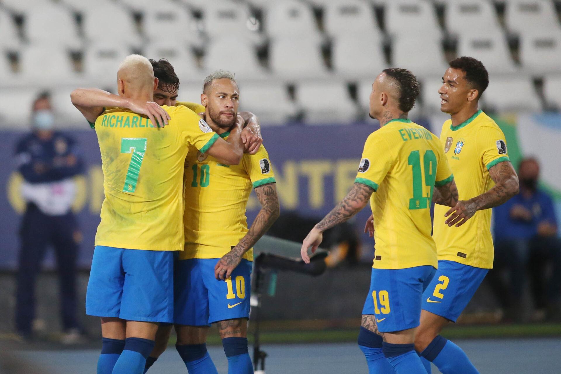 Dans la nuit de dimanche, le Brésil jouera la défense de son titre. Il affrontera l'Argentine ou la Colombie en finale (iconsport)