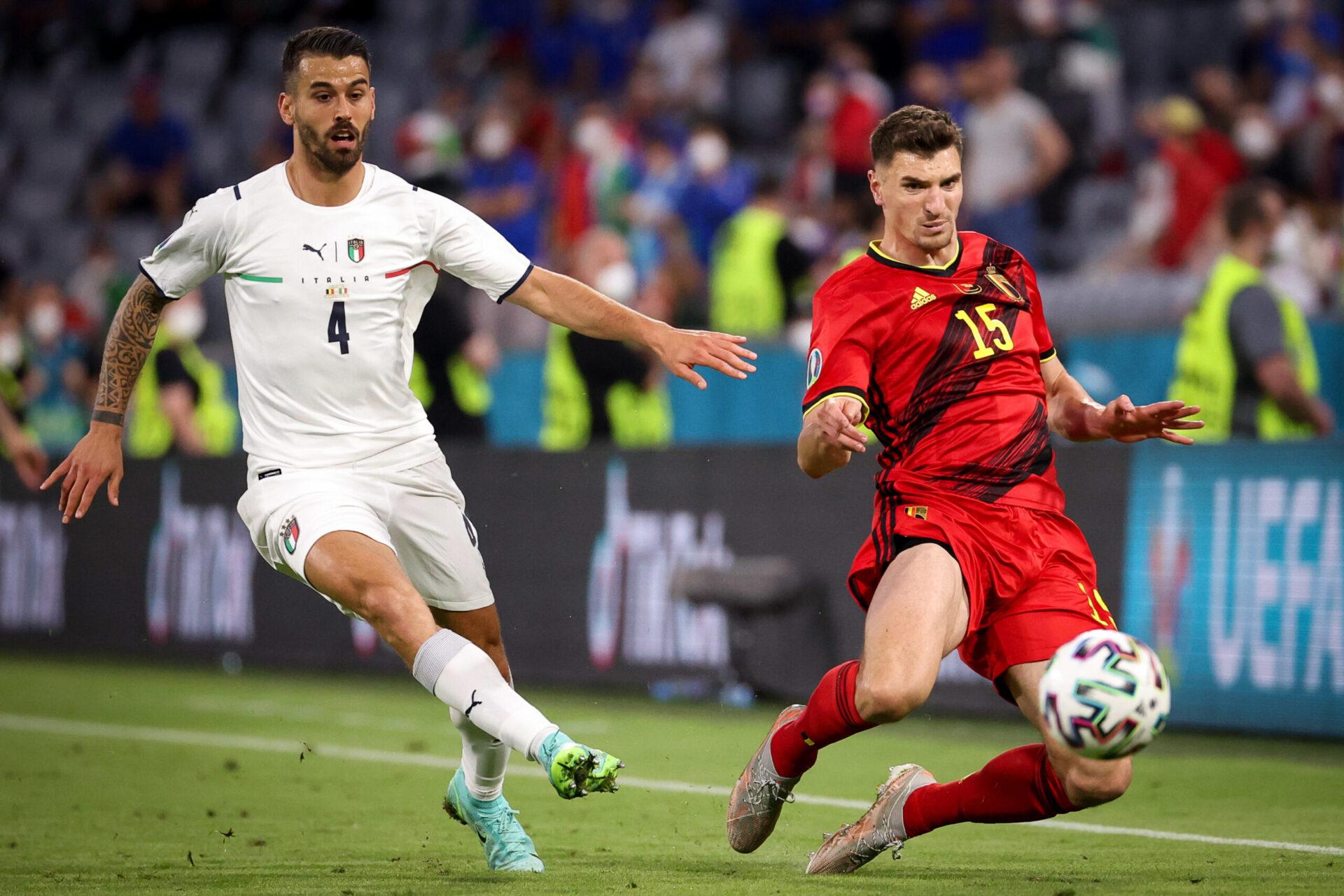Auteur de bonnes performances durant l'Euro 2020 avec la Squadra Azzura, Spinazzola a été victime d'une rupture du tendon d'Achille face à la Belgique (iconsport)