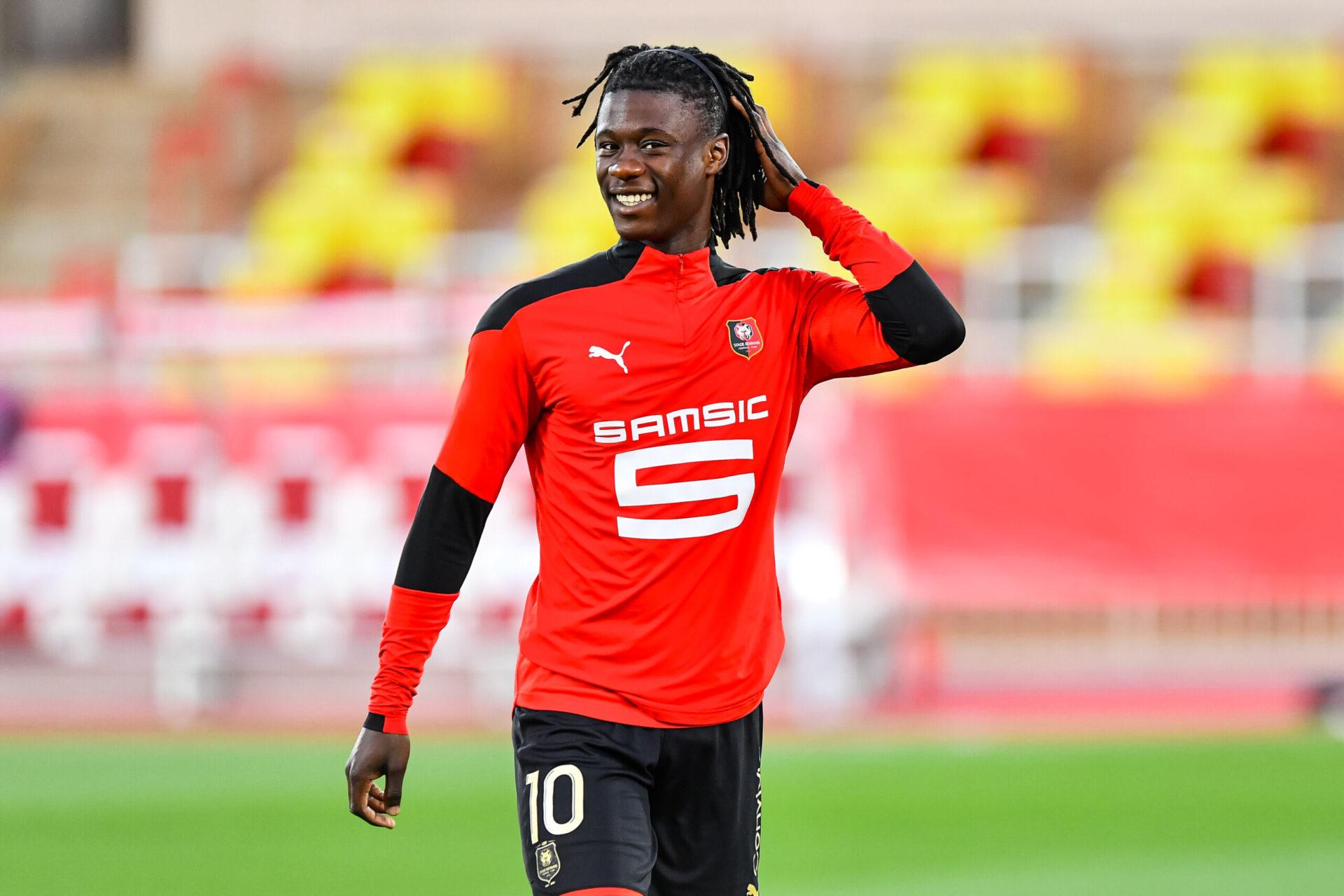 Camavinga voudrait quitter Rennes et pourrait atterrir à Manchester United ou à Paris (iconsport)
