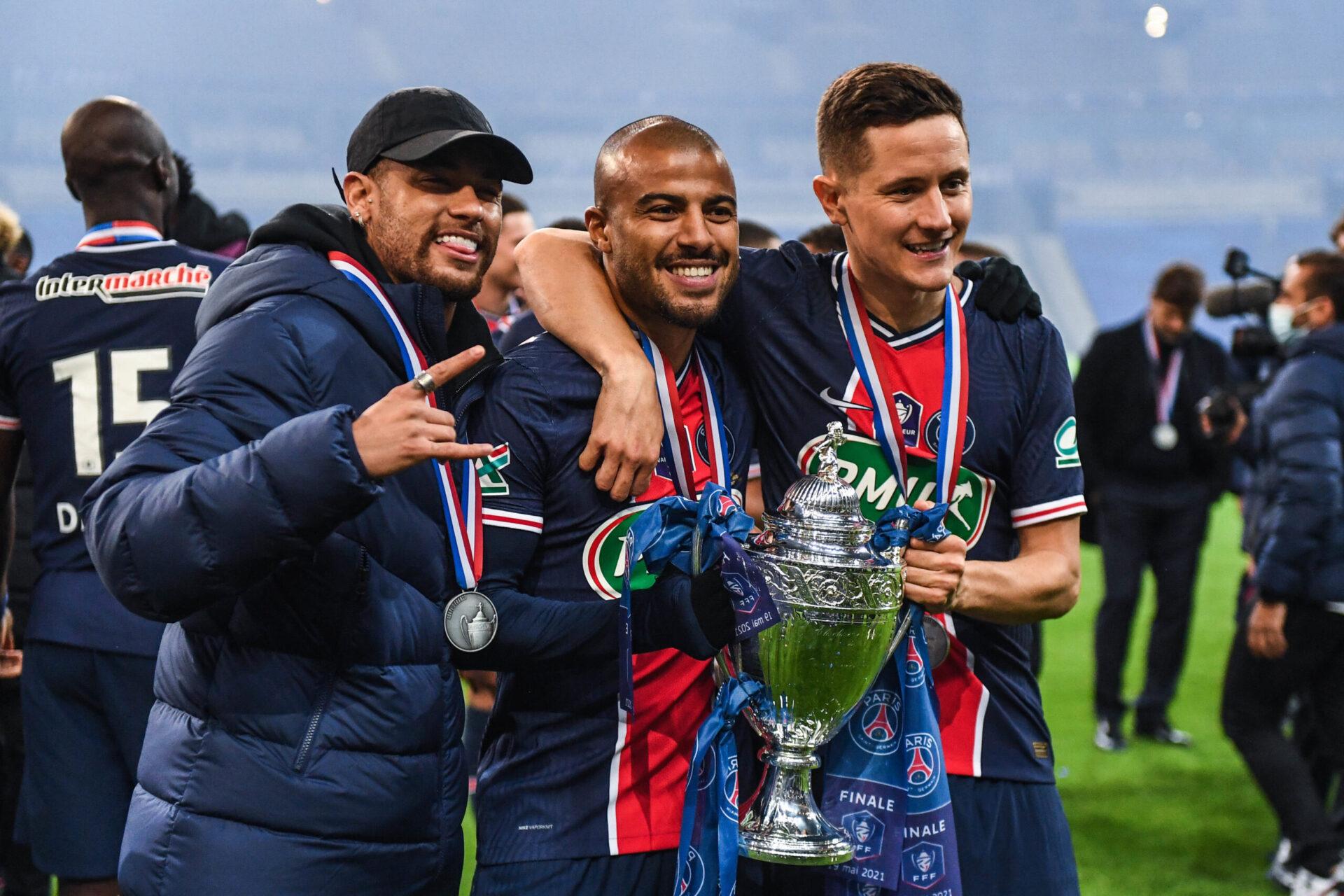 Rafinha a remporté la Coupe de France avec le PSG cette année en battant Monaco (0-2) en finale (iconsport)