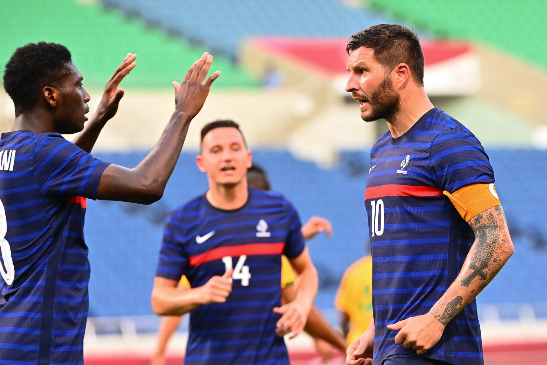 La joie de Gignac lors du match face à l'Afrique du Sud (iconsport)