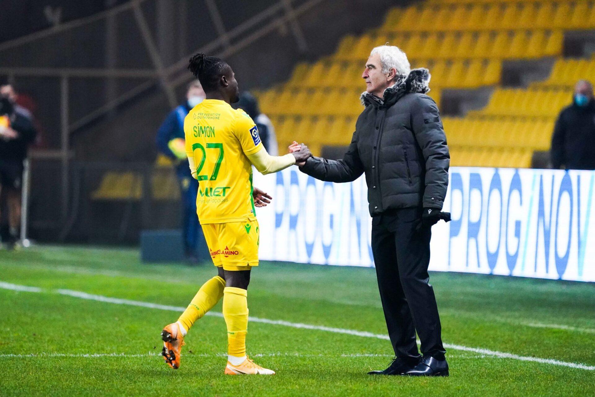 """Raymond Domenech assure qu'il a vécu """"une belle expérience"""" avec ses anciens joueurs de Nantes, dont Simon Moses. Icon Sport"""