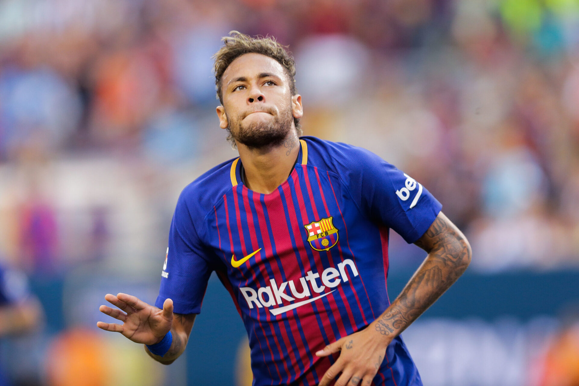 Neymar avec les couleurs du FC Barcelone (Icon Sport)
