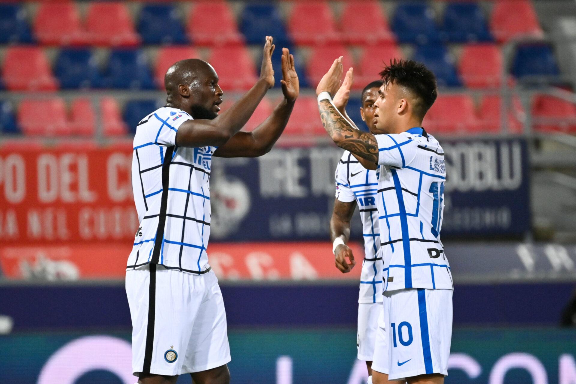 L'Inter Milan aimerait prolonger Lautaro Martínez qui forme un duo dévastateur avec Romelu Lukaku (iconsport)