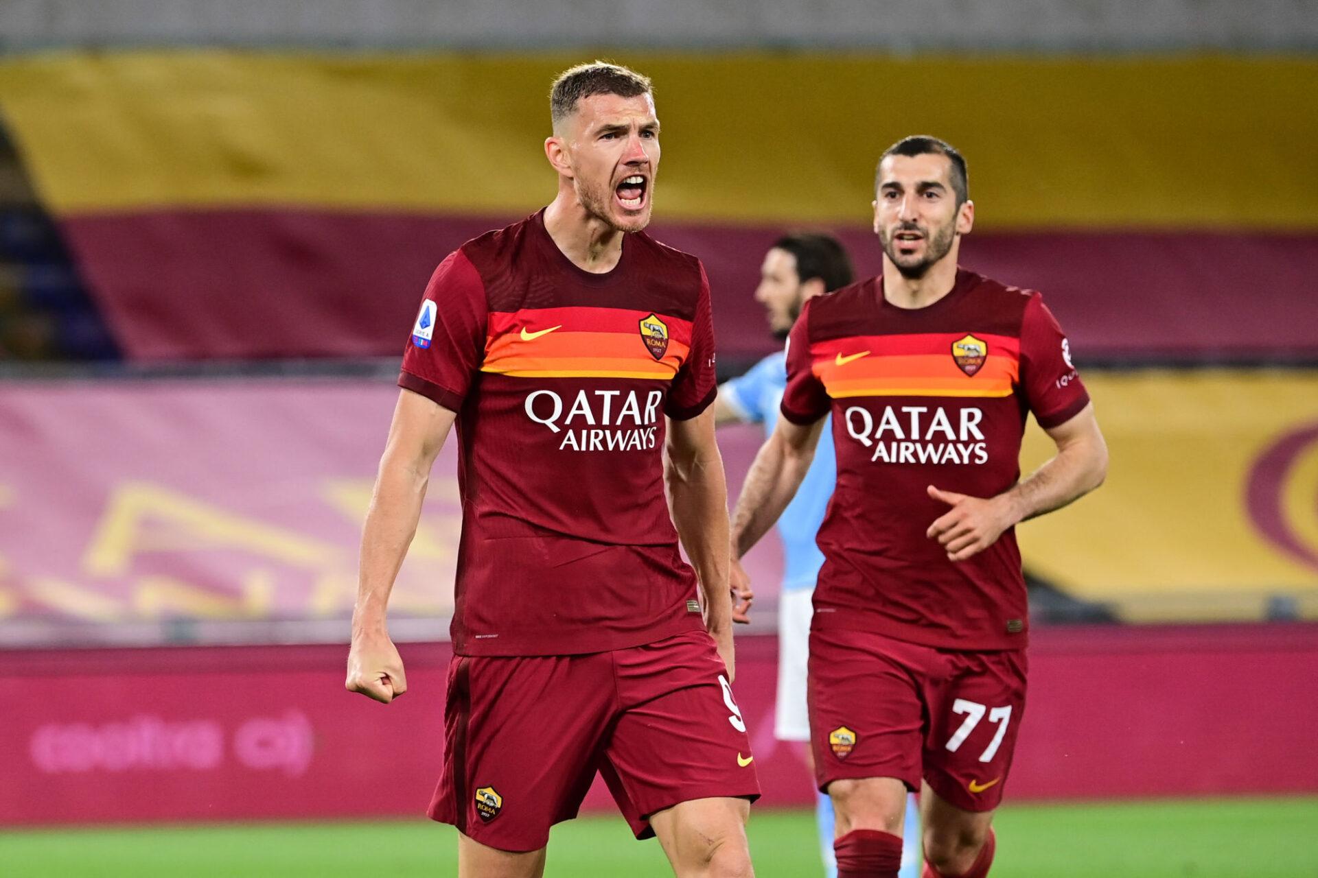 José Mourinho n'a pas voulu révéler ce qu'il comptait faire d'Edin Džeko, l'actuel capitaine de la Roma. Icon Sport