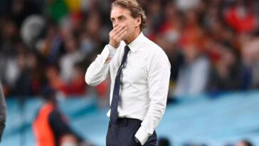 Roberto Mancini a stressé lors de la rencontre face à l'Espagne (iconsport)