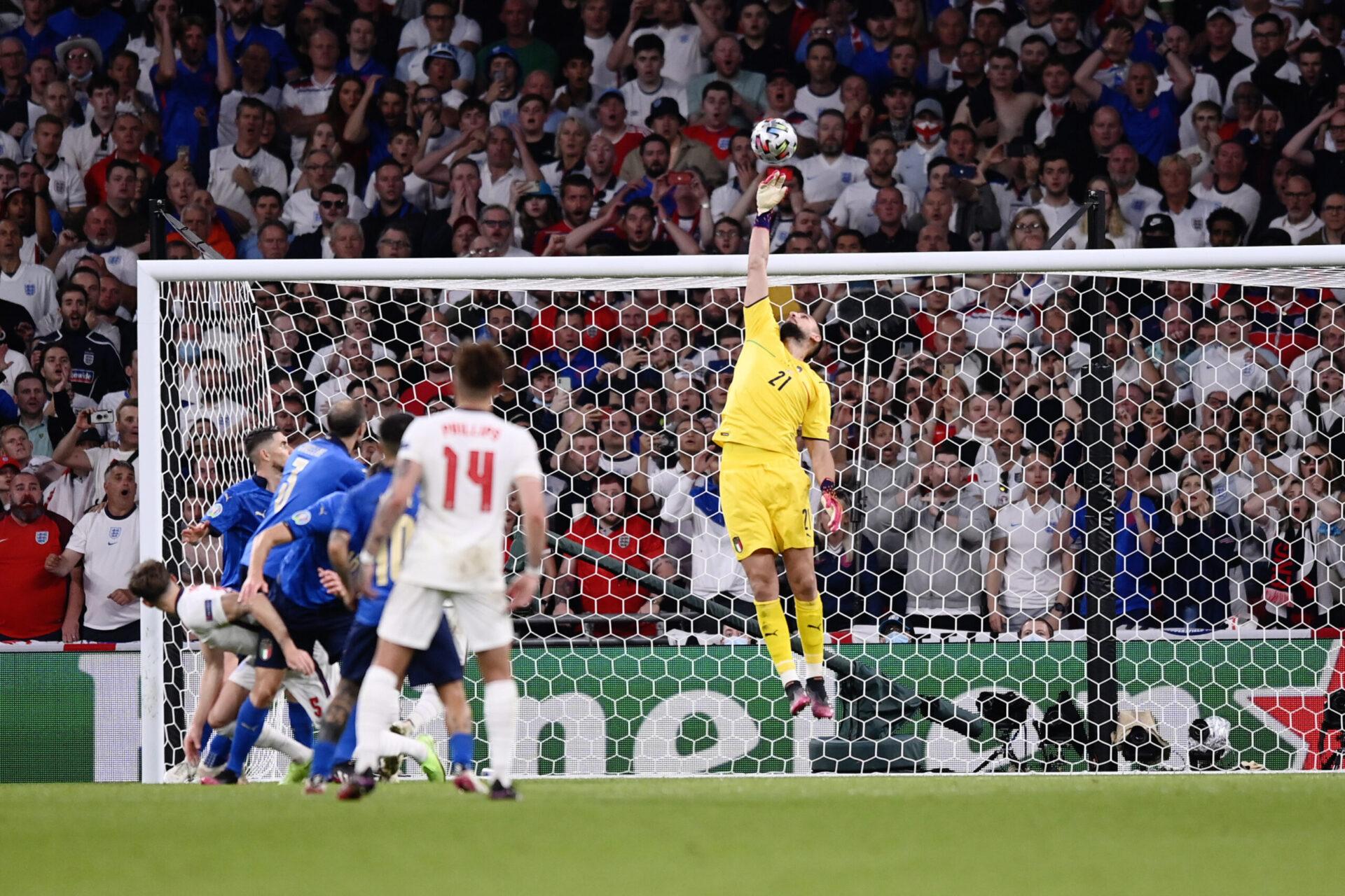 Gianluigi Donnarumma, meilleur joueur de l'Euro 2020 et futur gardien du PSG. Icon Sport