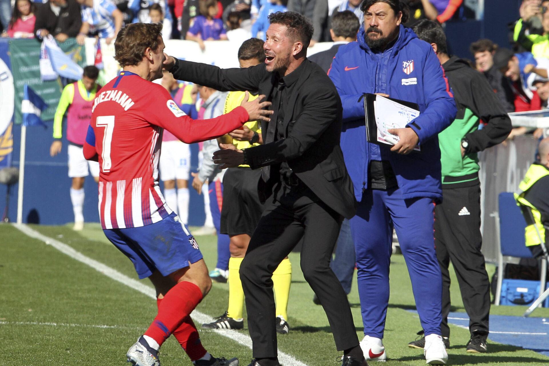 S'il quitte le Barça, Antoine Griezmann n'envisage qu'un retour à l'Atlético de Madrid où il retrouvait Diego Simeone (iconsport)