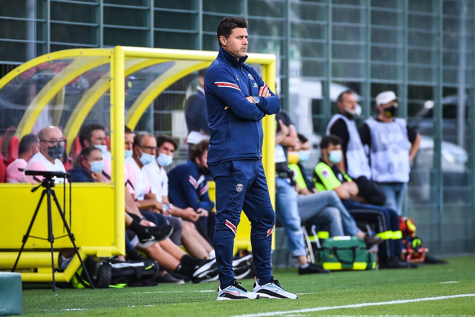 Mauricio Pochettino sur le banc pendant la rencontre face à Orléans (iconsport)