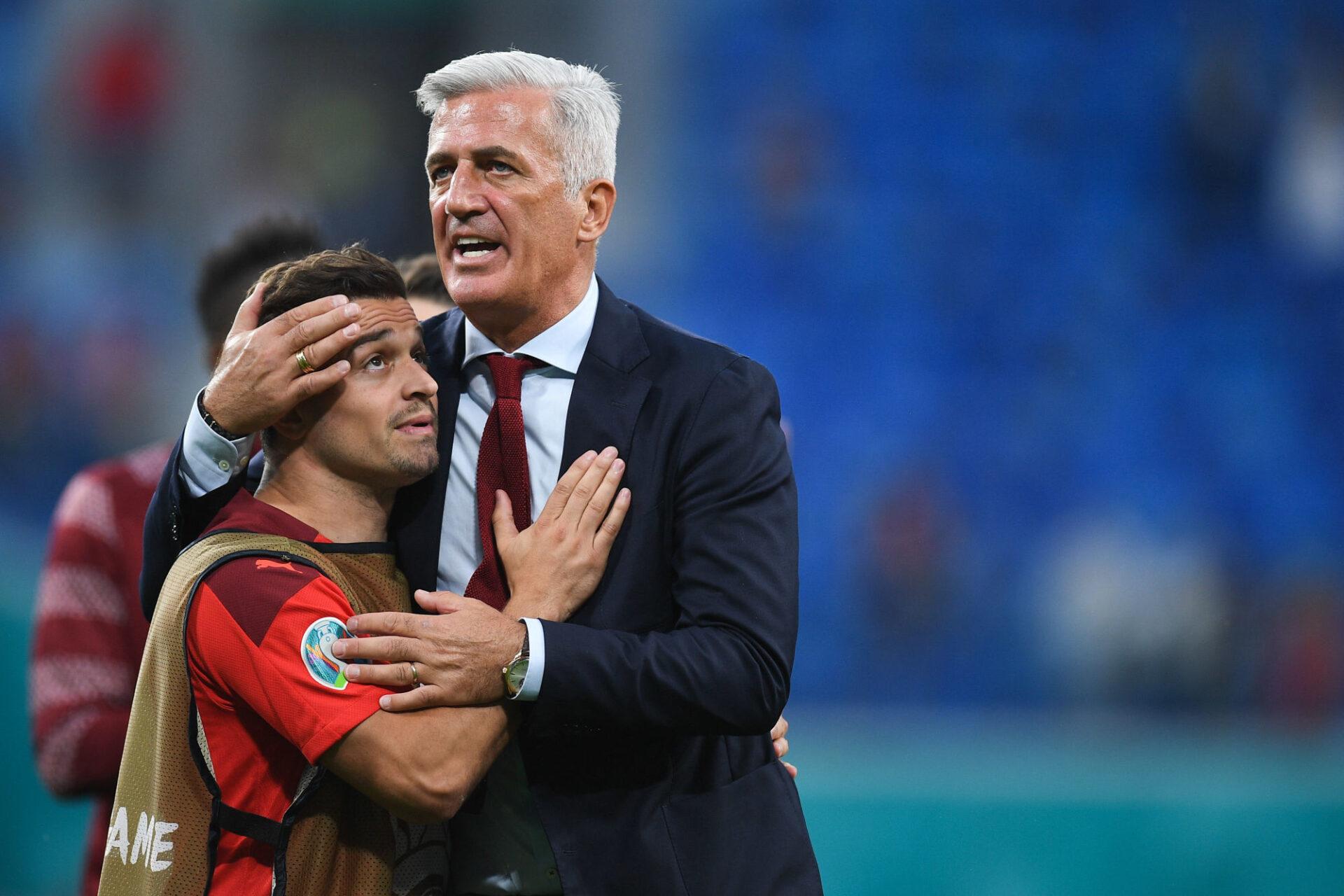 Vladimir Petkovic quitte la Suisse avec le sentiment du devoir accompli : la Nati a obtenu son meilleur résultat historique à l'Euro 2020 (quart de finale), après avoir notamment éliminé la France en huitième. Icon Sport
