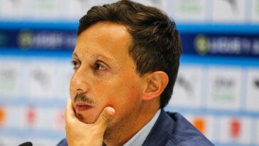 Pablo Longoria, le président de l'OM, a évoqué le mercato en conférence de presse. Icon Sport