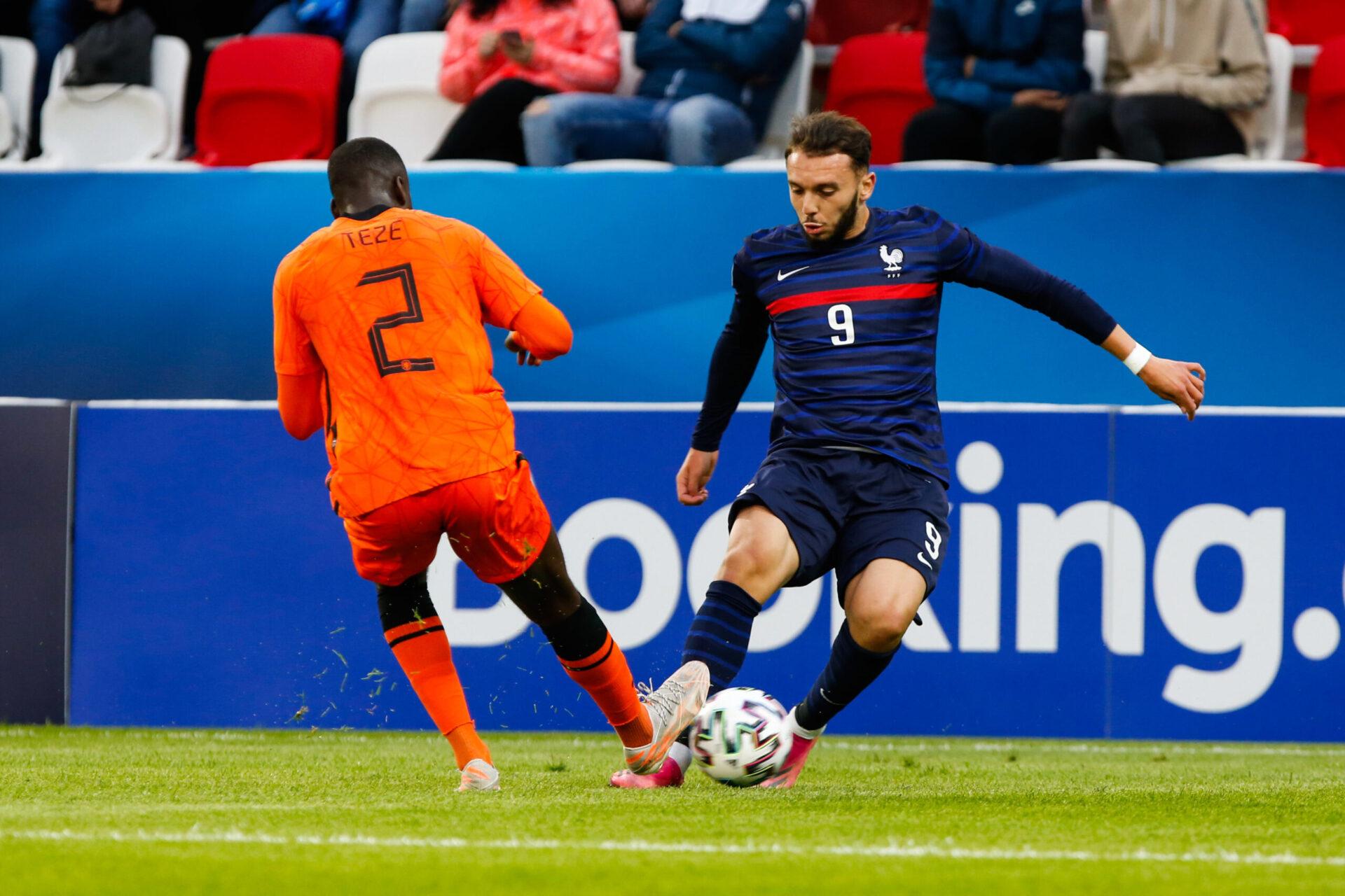 Amine Gouiri a participé à l'Euro U21 avec la France mais avoue avoir les Bleus en tête (iconsport)