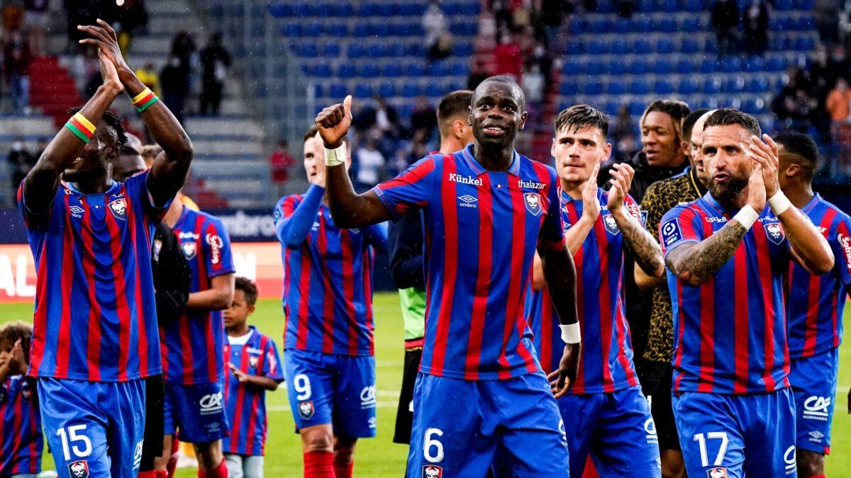 Caen s'est offert un festin face à Rodez et s'impose 4-0. Icon Sport