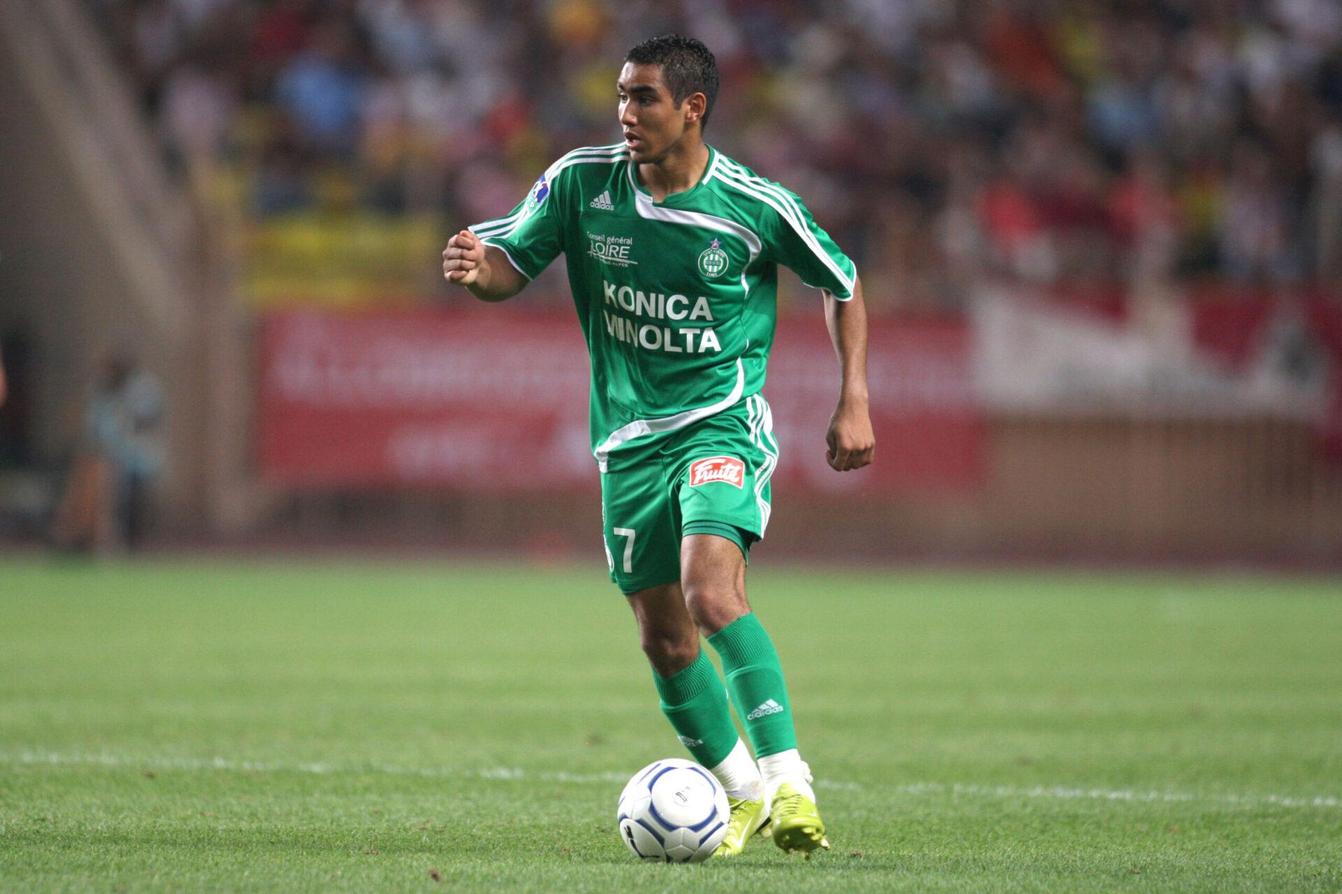 Dimitri Payet portant les couleurs du club stéphanois (Icon Sport)