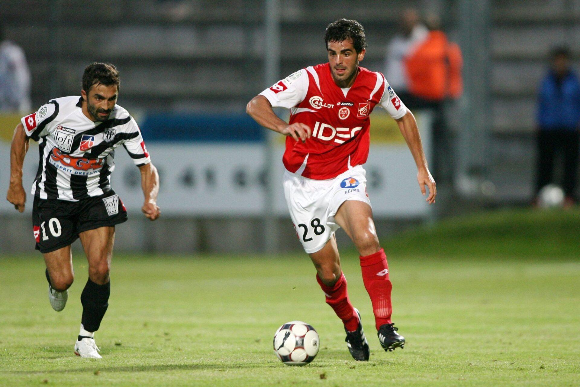 Williams Martinez en août 2008 avec Reims en Ligue 2. Icon Sport