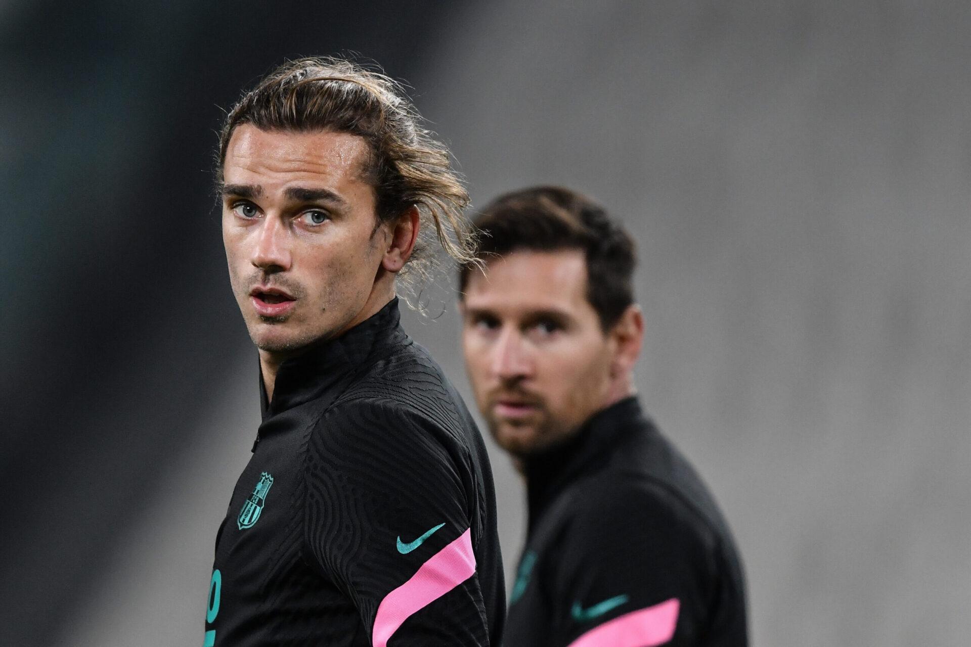 Pour les dirigeants barcelonais, un départ d'Antoine Griezmann permettrait de financer le renouvellement de Lionel Messi (iconsport)