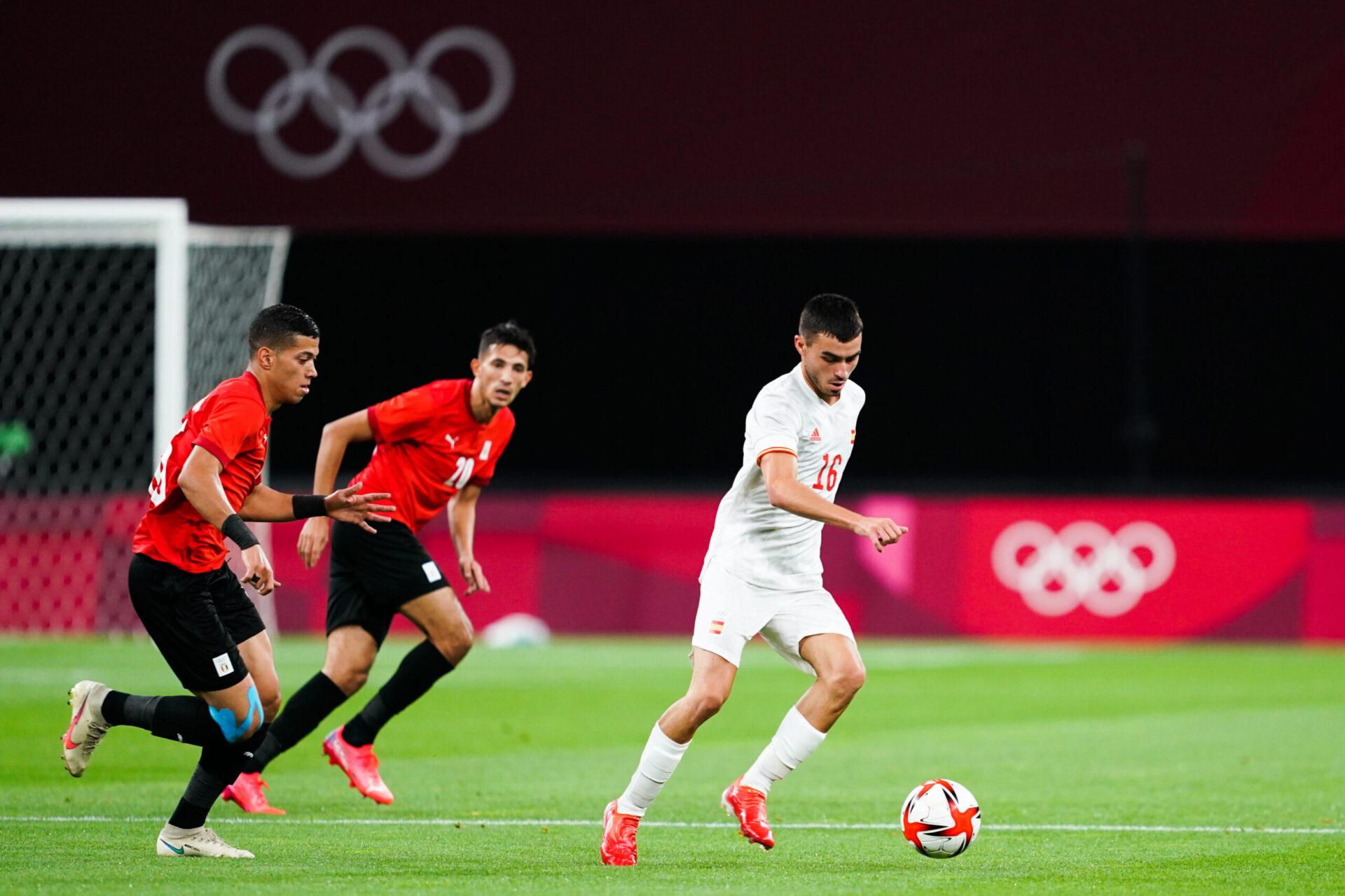 Contre l'Égypte, Pedri a joué son 63ème match de la saison. Icon Sport
