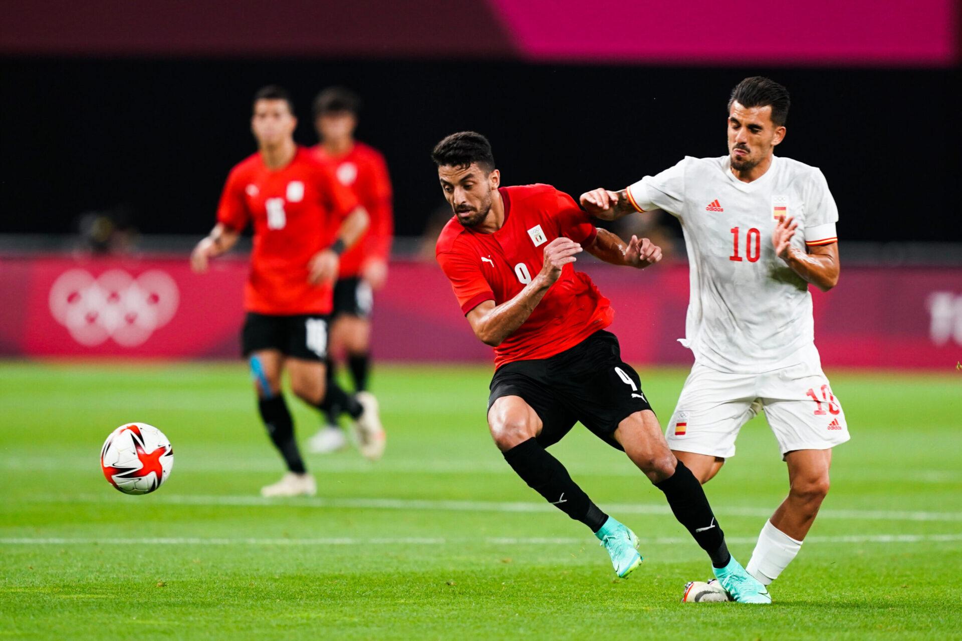 Dani Ceballos a dû sortir en cours de match contre l'Egypte, victime d'une entorse de la cheville. Icon Sport