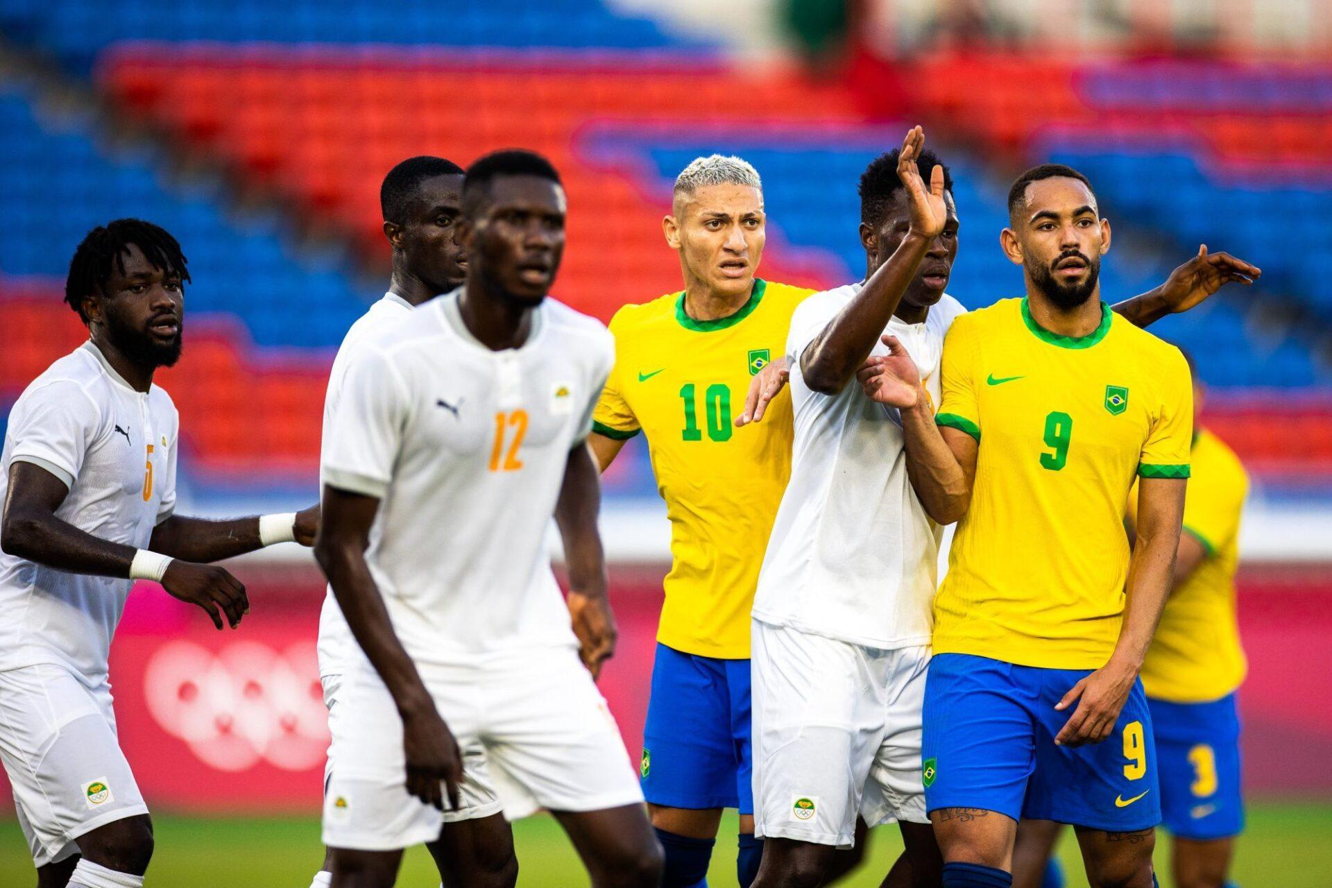 Le Brésil et la Côte d'Ivoire en match de poule des JO 2020. Icon Sport