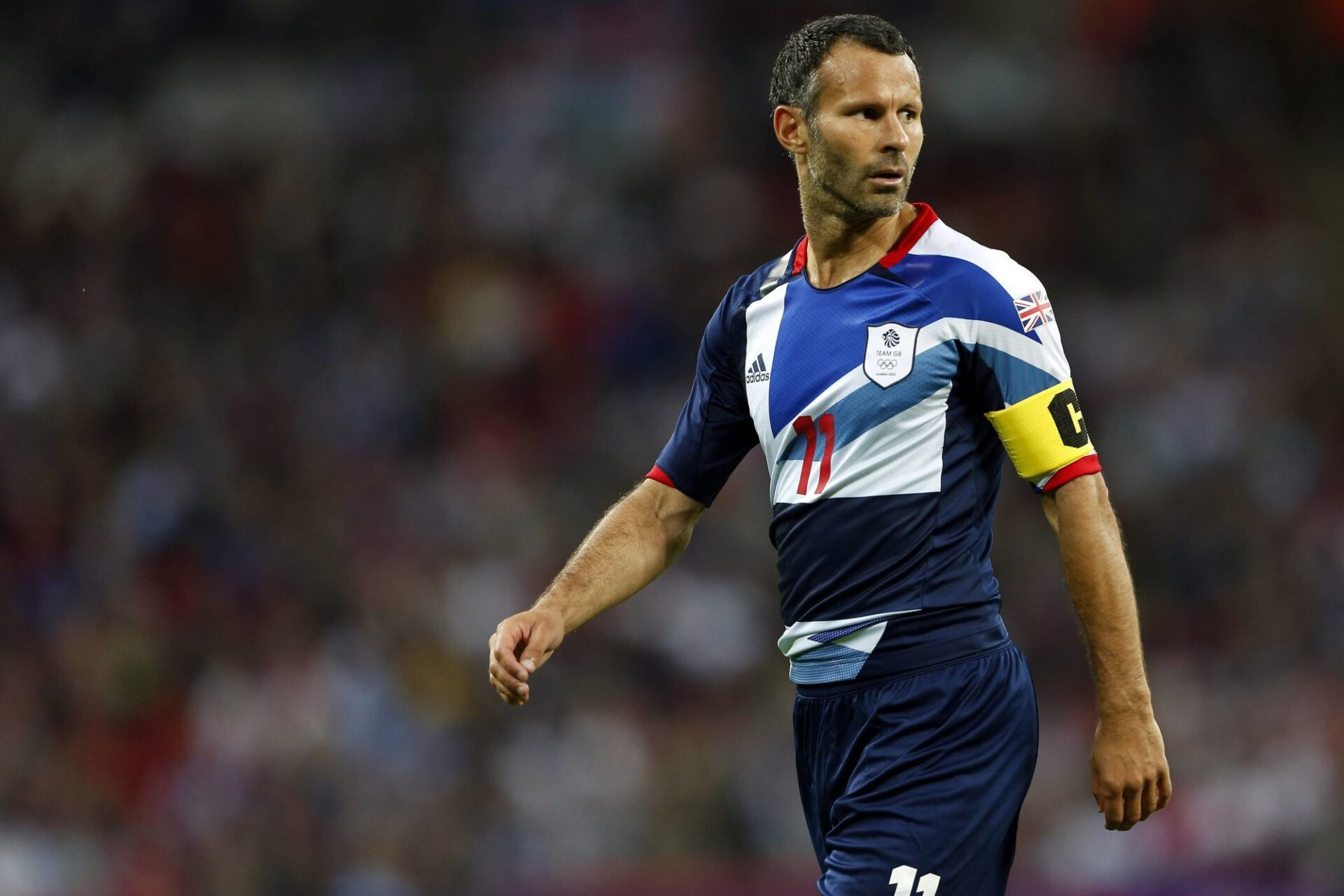 Ryan Giggs avait défendu les couleurs de la Grande-Bretagne aux JO en 2012... sans succès. Icon Sport