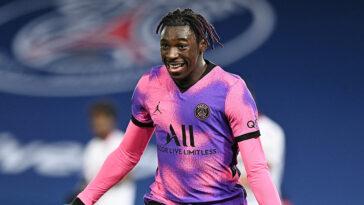 Déjà prêté à Paris en 2020-2021, Moise Kean devrait faire son retour dans la capitale. Les deux clubs travaillent sur un nouveau prêt de l'Italien, avec option d'achat (iconsport)