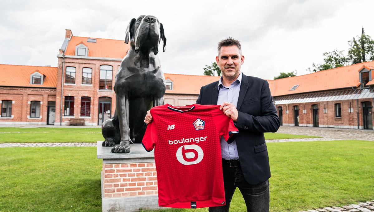 Jocelyn Gourvennec est le nouvel entraîneur de Lille. Le club champion de France a officialisé la venue du technicien de 49 ans ce lundi 5 juillet dans la soirée (iconsport)