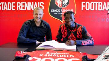 Kamaldeen Sulemana est Rennais. L'ailier ghanéen arrive du FC Nordjælland et a signé pour 5 saisons avec le club breton (Stade Rennais FC)