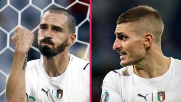 Leonardo Bonucci et Marco Verratt se sont exprimés après la qualification de l'Italie pour les demis-finale de l'Euro 2020 aux dépends de la Belgique (iconsport)