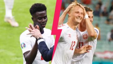 L'Angleterre de Bukayo Saka, titulaire, affronte le Danemark de Kasper Dolberg ce mercredi 7 juillet en demi-finale de l'Euro 2020. Icon SPort