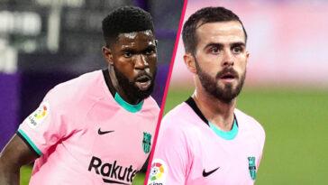 La direction du FC Barcelone entend résilier les contrats de Samuel Umtiti et Miralem Pjanic afin de libérer des fonds pour l'opération Lionel Messi (iconsport)