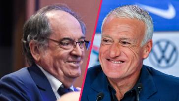 Après s'être vus ce mercredi 7 juillet à Guingamp, Noël Le Graët et Didier Deschamps ont décidé de poursuivre ensemble jusqu'à la Coupe du monde 2022 (iconsport)