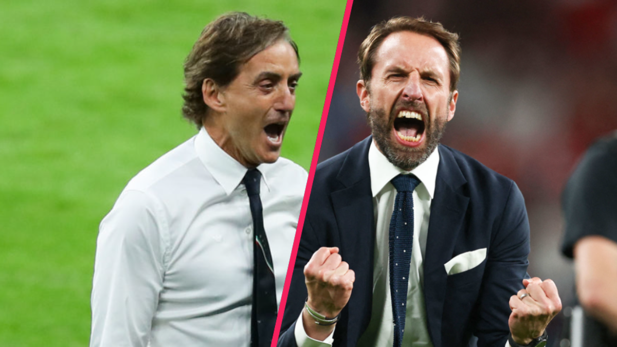 Roberto Mancini, le sélectionneur de l'Italie, et Gareth Southgate, le sélectionneur de l'Angleterre, ont fédéré leur groupe autour d'eux pour atteindre la finale de l'Euro 2020. Icon Sport