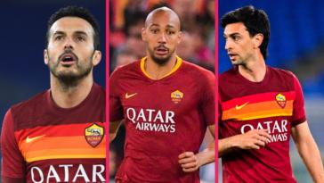 José Mourinho et l'AS Rome ont repris le chemin de l'entraînement ce vendredi matin. Pour sa première, l'entraîneur portugais a écarté 8 joueurs de la préparation d'avant-saison, dont Pedro (à gauche), Steven Nzonzi (au cnetre) et Javier Pastore (à droite). Icon Sport