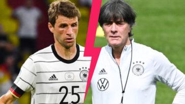 """Thomas Müller n'a pas été tendre avec Joachim Löw après l'élimination de l'Allemagne à l'Euro. Le milieu de 31 ans a regretté les """"choix défensifs"""" de son ex-sélectionneur (iconsport)"""