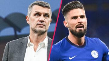 Directeur technique de l'AC Milan, Paolo Maldini a confirmé l'arrivée imminente d'Olivier Giroud chez le vice-champion d'Italie (iconsport)