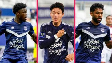 Josh Maja, Hwang et Otavio font partie des 13 joueurs poussés vers la sortie par Bordeaux. En recherche de liquidités, le club aquitain espère empocher 41 millions d'euros cet été (iconsport)