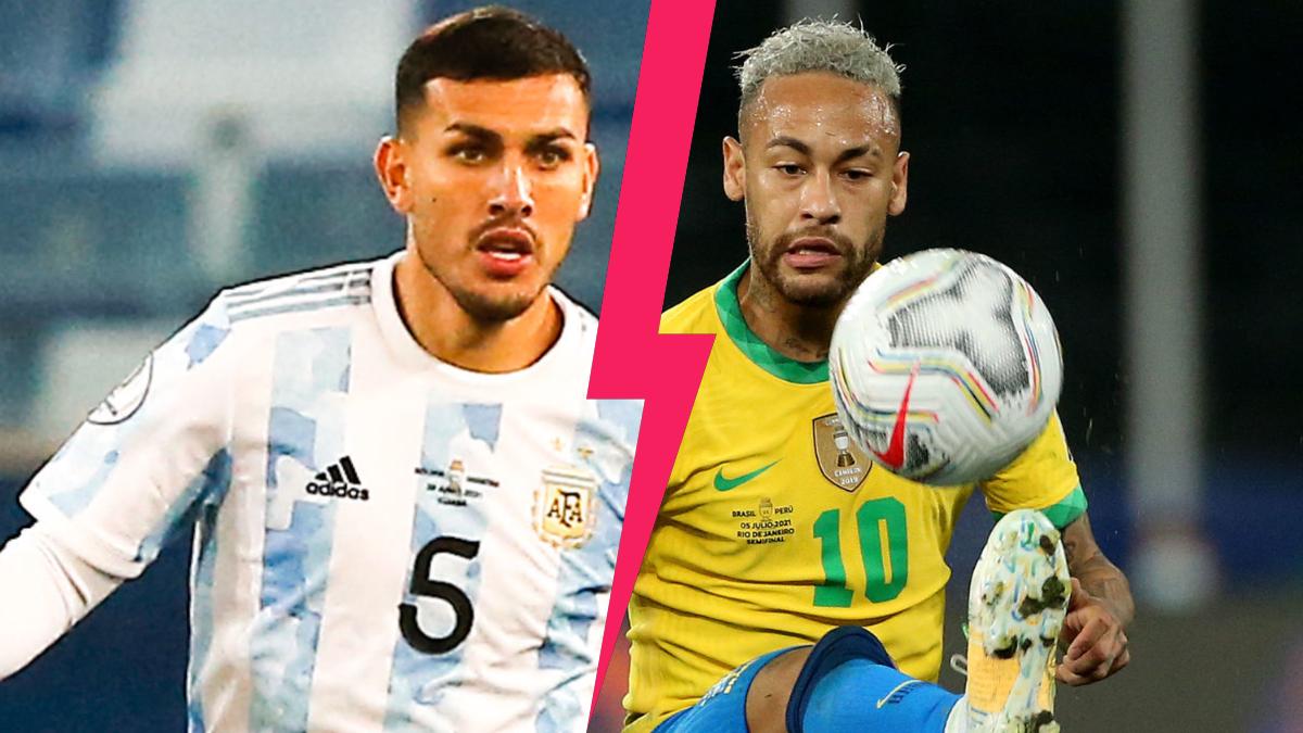 Leandro Paredes a promis l'enfer à Neymar lors de la finale de Copa América, dimanche 11 juillet, entre le Brésil et l'Argentine. Icon Sport