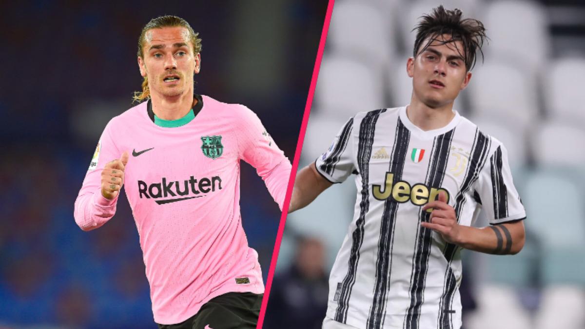 D'après L'Équipe, le Barça a proposé Antoine Griezmann à la Juventus dans le cadre d'un échange qui pourrait inclure Paulo Dybala (iconsport)