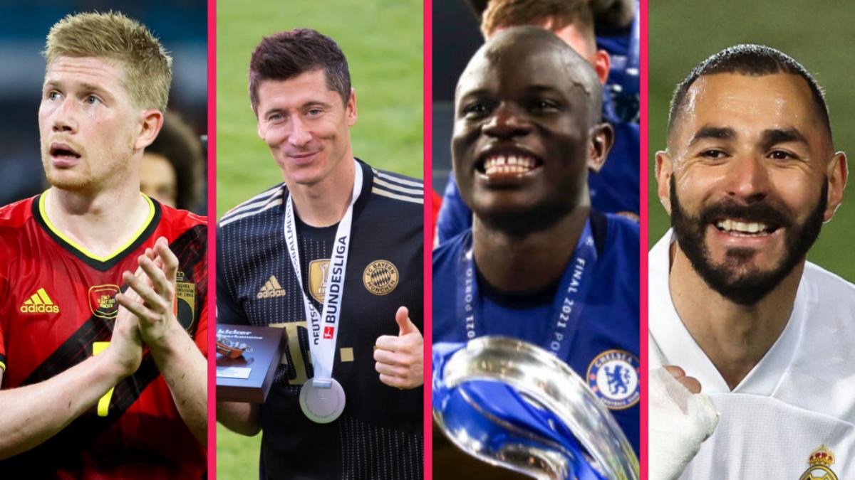 Kevin De Bruyne, Robert Lewandowski, N'Golo Kanté et Karim Benzema, excellents en club, vont pâtir du parcours de leur sélection à l'Euro. Icon SPort