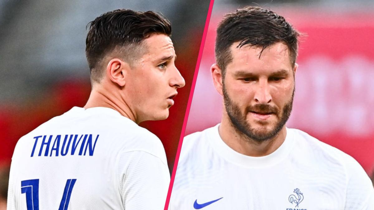Florian Thauvin et André-Pierre Gignac ont analysé la défaite de l'équipe de France contre le Mexique (1-4), ce jeudi 22 juillet, lors de son entrée aux Jeux Olympiques. Icon Sport