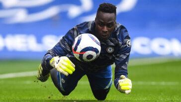 Edouard Mendy stoppant un but en tant que gardien de but de Chelsea (Icon Sport)