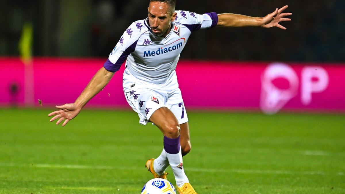 Franck Ribéry portant le maillot de Fiorentina (Icon Sport)