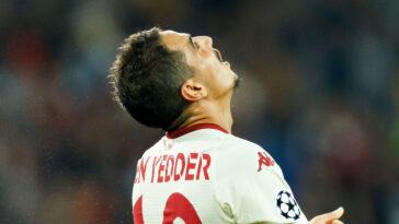Malgré un doublé de Ben Yedder, Monaco n'est pas parvenu à décrocher son ticket pour la Ligue des champions ce mercredi 25 août (iconsport)