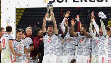 Le Bayern a remporté la Supercoupe d'Allemagne au détriment du Borussia Dortmund. Icon Sport