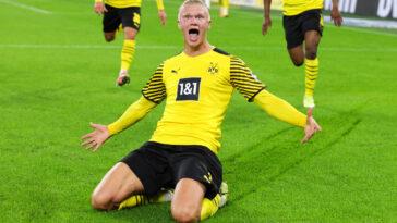 Erling Haaland sous le maillot du Borussia Dortmund (IconSport)
