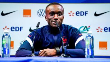 Moussa Diaby était présent pour la première fois en conférence de presse avec l'équipe de France A. Icon SPort