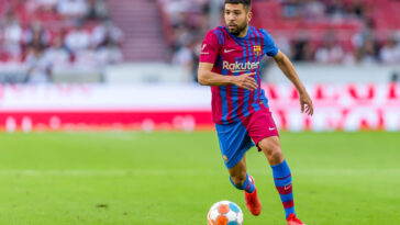 Jordi Alba portant le maillot du Barça (Icon Sport)