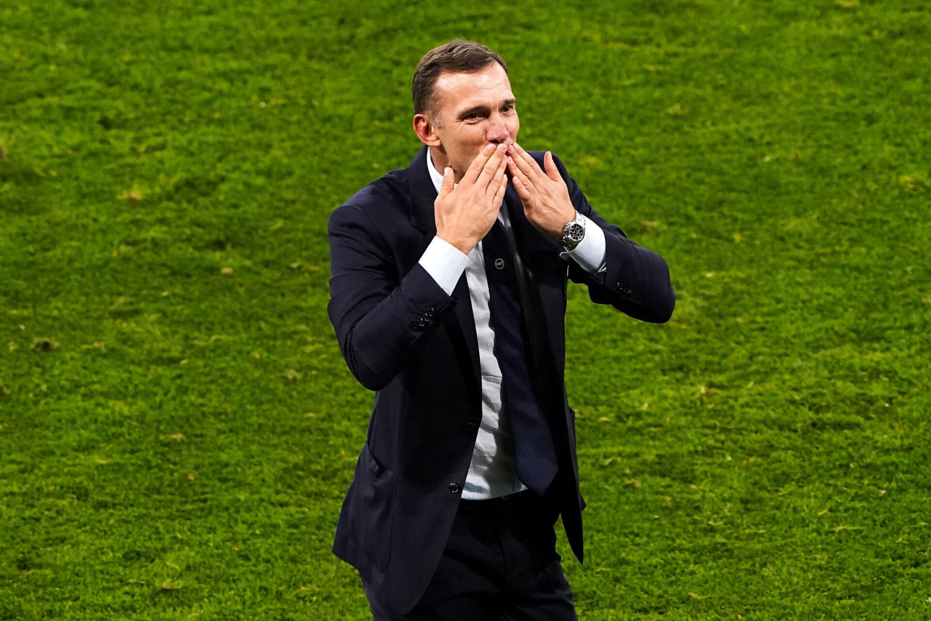Lourdement battu par l'Angleterre à l'Euro 2020, Andreï Chevtchenko a offert à l'Ukraine son premier quart de finale à l'Euro (iconsport)