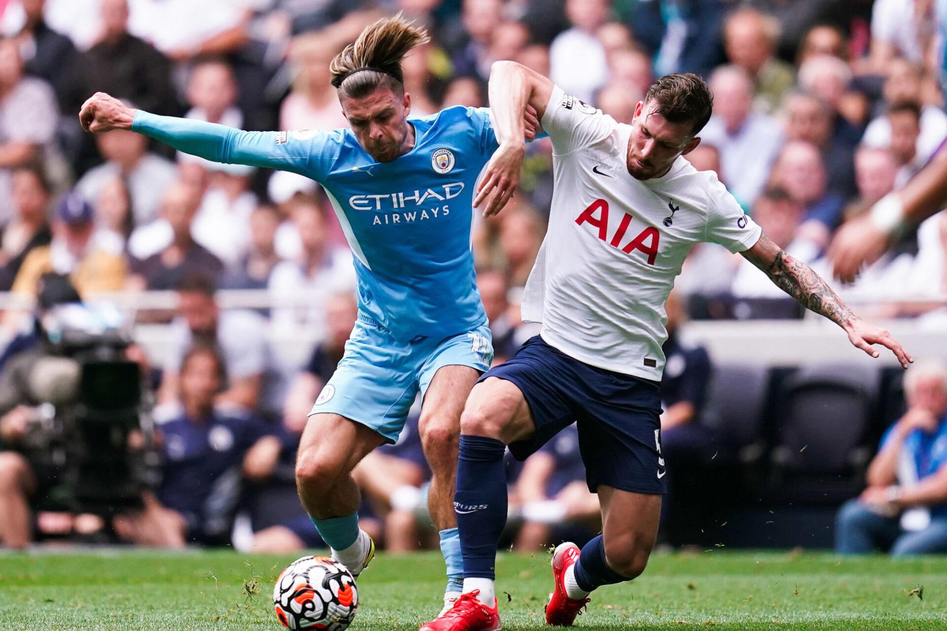 Jack Grealish a fait ses grands débuts avec Manchester City contre Tottenham. Déjà très en jambes, la recrue anglaise la plus chère de l'histoire n'a pourtant pas pu éviter la défaite des siens. Icon Sport
