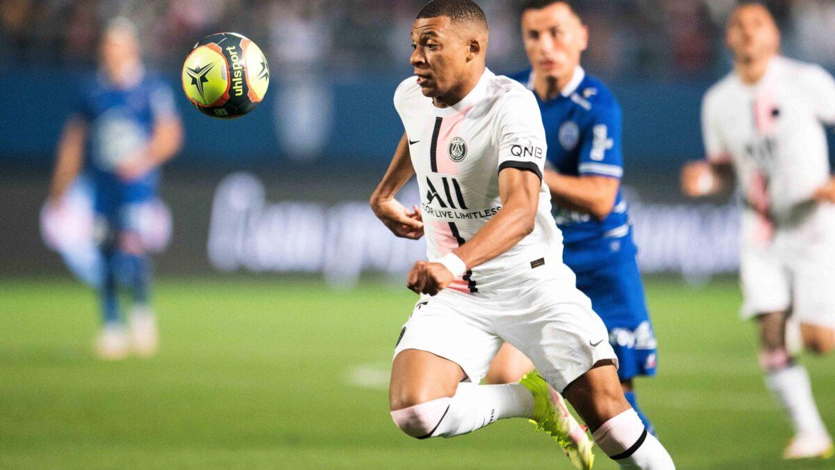 Kylian effectuait hier soir son premier de la saison avec le Paris Saint-Germain (IconSport)